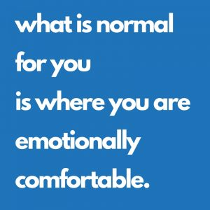 emotionally comfortable